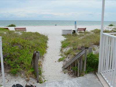 Photo for Gulf and Intercoastal Views, Sleeps 5 Beach just steps across the street!
