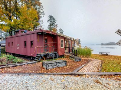 Photo for Renovated, unique caboose with a lakefront spot - public boat ramp 2 min away!