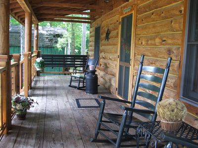 Enjoy a morning cup of coffee or even breakfast on the front porch.