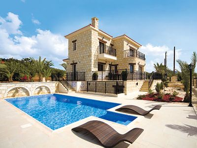 Photo for Large modern, stunning villa with pool overlooking amazing views of the sea and free Wi-Fi