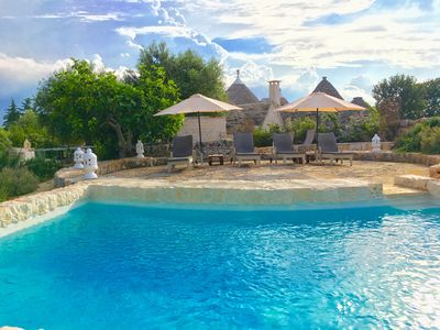 Photo for Beatifull Trullo with private stone pool & jacuzzi,WI-FI free -