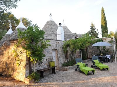Photo for Very personal Trullo in a quiet, fenced olive grove, German owner