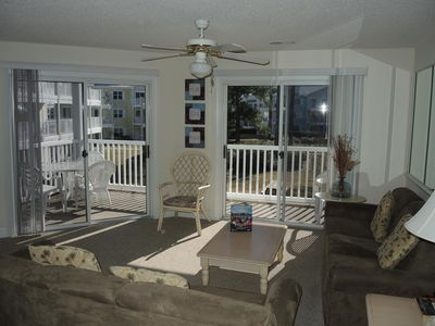 Photo for Full Kitchen, Washer/Dryer, Pool View, 27 hole Golf Course on site.Sunset Beach nearby(1504)