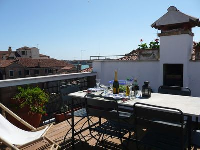 Photo for Luxury, sunny 1 bedroom apartment with large panoramic roof terrace.