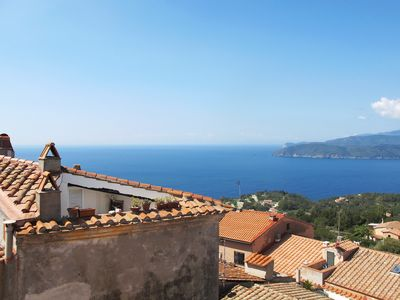 """Photo for """"Torre"""" 135m2 - with roof terrace and panoramic sea view - Capoliveri / Elba Island"""
