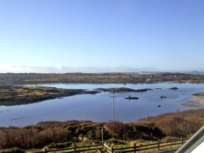 Views overlooking Clifden Bay from the front of the property