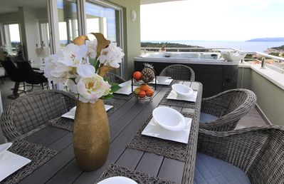 Photo for Luxurious penthouse with private jacuzzi /sea view
