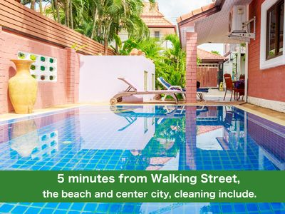 Photo for Villa Corner 4 bedrooms near Walking Street & Beach ★★★★★