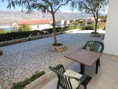 Photo for Studio flat with terrace and sea view Vinjerac, Zadar (AS-3248-a)
