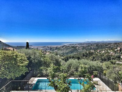 Photo for NICE PROVENCAL HOUSE WITH AMAZING VIEW! 15mn from NICE SEA VIEW FEERIQUE