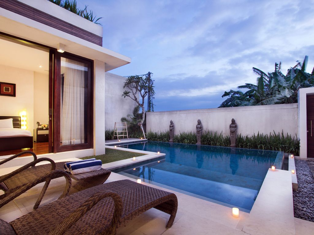 2 bedroom modern minimalist pool villa 2 bedroom modern for Modern minimalist villa