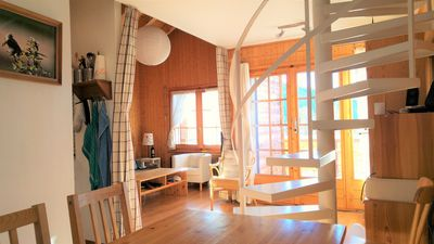 Photo for Bright and cozy appartment 3. 5p attic in the heart of the Valais Alps