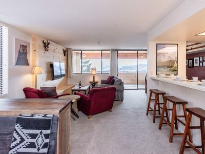 Photo for Ski-in, ski-out condo with unobstructed mountain views and shared hot tub