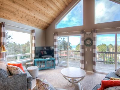Photo for Ocean View Home in Yachats With Game Room & Sauna!