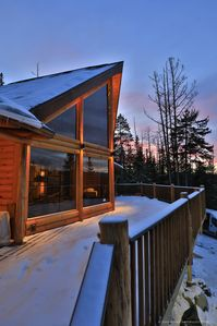 Photo for Adirondack Lake Placid Hilltop Log Lodge w/ Whiteface Mt views
