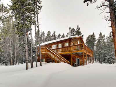 Photo for 3 Bedroom/2 Bath Cabin with Game Room. Secluded with Views near Fairplay and Breckenridge