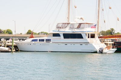 The Ocean Romance B & B Yacht With Tender Boat At Goat Island Marina