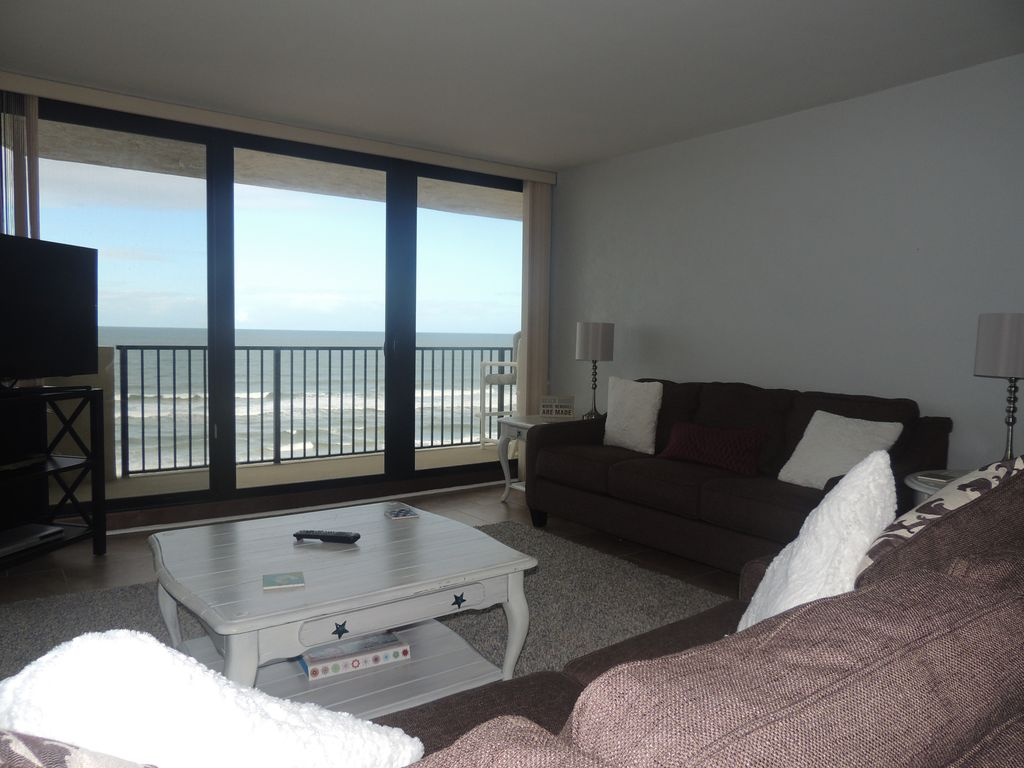 Ormond Beach Ocean Front Condo Large Balconies Uscured Views
