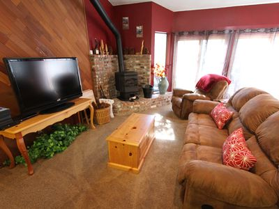 Photo for Pet Friendly, Short Walk to Free Shuttle, Private Jacuzzi