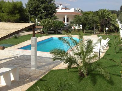 Photo for Beautiful air-conditioned villa with large swimming pool in secluded garden
