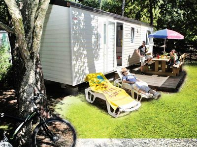 Photo for Camping Le Vieux Port ***** - Mobilhome 6 people - 4/6 people (between 6 and 10 years old)