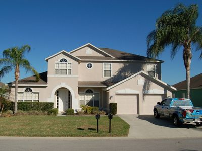 Photo for 6 Bedroom 3 and a half bathroom Vacation Home Beautiful Lake View in Davenport, Florida