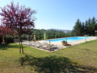 Photo for Holiday apartment with outdoor swimming pool