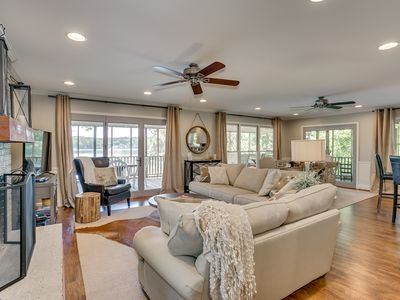 Photo for Lake Tuscaloosa Designer House with 4 King Beds! -Right on Water- 20 Min to UA!
