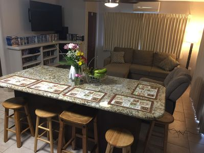 Kitchen & Living Room AC Unit & Ceiling Fan, Digital Cable TV,  Equipped Kitchen