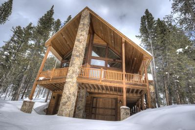 Luxury cabin in the woods, perfect for your family.