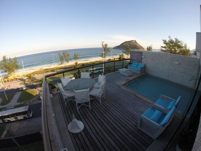 Photo for PENTHOUSE IN FRONT OF THE RECREATIONAL BEACH, POOL AND SAUNA PRIVATE !!