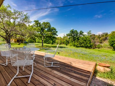 Photo for NEW LISTING! Lakeside Burnet home w/deck surrounded by nature & wildlife