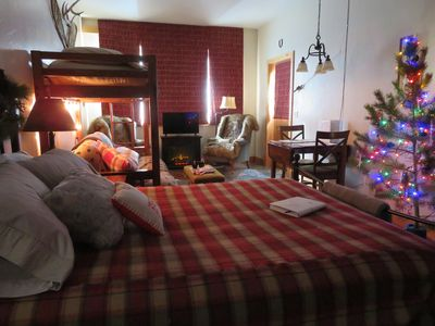 Photo for The Copper Peak lodge suite, hot tub, sauna, fire pit coffee and fresh eggs!