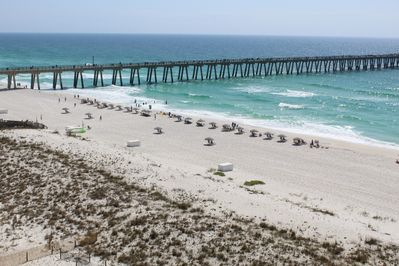 Beautiful view of Gulf of Mexico- Navarre Pier from balcony