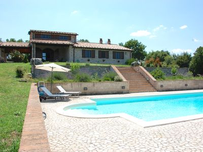 Photo for Farmhouse with swimming pool immersed in the Umbrian countryside - 7 beds