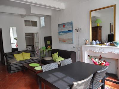 Photo for Uzès downtown apartment 74 m2, bright, with Internet Box and wifi