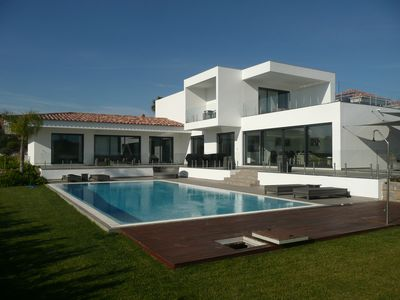 Photo for BRAND NEW LUXURY CONTEMPORARY VILLA WITH PRIVATE HEATED POOL AND ENCLOSED GARDEN
