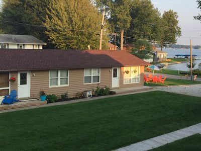 New Kid in Town,  Lake Wawasee , 2 Bedroom Condo  Channel Front with Boat Pier