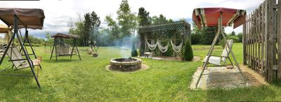 The perfect bonfire gathering area! Don't forget your marshmallows!