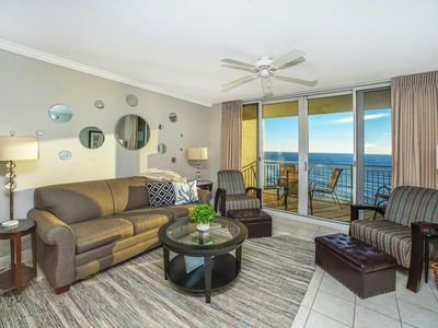 Photo for AMAZING BALCONY VIEWS OF THE GULF! OPEN 9/7-14! BEACH CHIC UNIT!