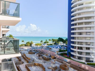 Photo for Stylish condo at oceanfront resort w/ balcony, beach access & 2 shared pools/gym