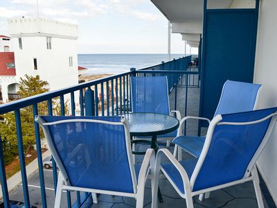 Photo for Cute Ocean Block Condo - Wi-Fi, Flat-Screen TV, Ocean View - 1/2 Block to Beach