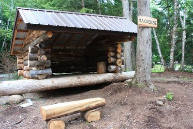 Adirondack lean-to - 3 sided structure with platform for sleeping