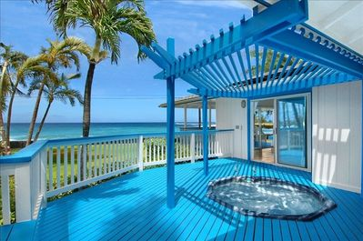 Oceanfront private jacuzzi!!! Back lanai!