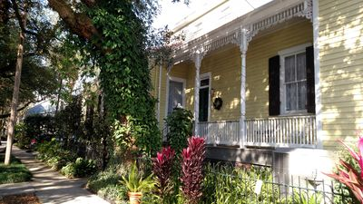 Photo for Gracious, Victorian home with multiple porches on a tree-shaded street. Ahhh...