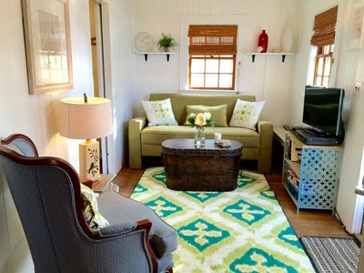 Stay in a tiny house pet friendly walk to vrbo - Pet friendly living room furniture ...