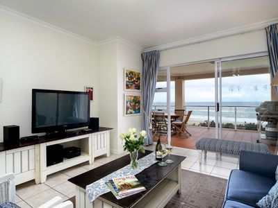 Photo for Sea-facing, luxury 2 bedroom 2 bathroom, fully equipped apartment on the beach.