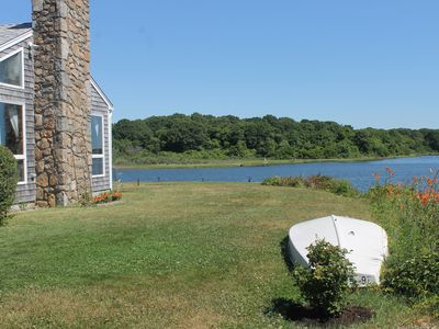 Photo for Waterfront Cottage on Salt Pond in the Heart of Narragansett