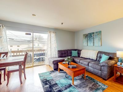 Photo for NEW LISTING! Condo w/ a full kitchen, balcony, & shared pool - walk to the water