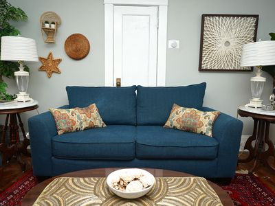 Photo for 2 BDRM Eclectic Boho house, artsy, historic walkable. Close to food and bars